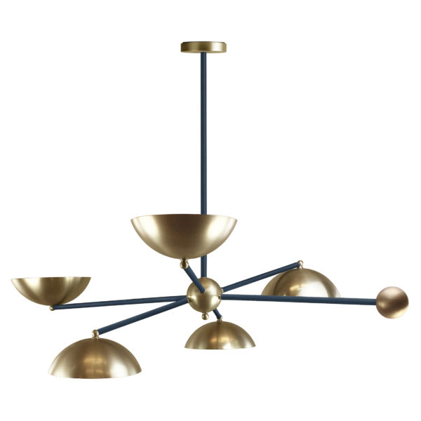 VILLAVERDE_LONDON_ORBITA_Leather_brass_chandelier_navy_square